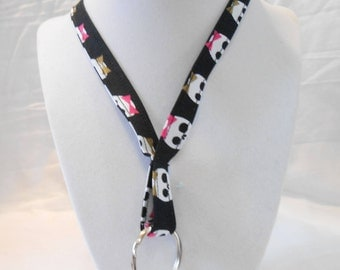 Skulls with Bows Lanyard