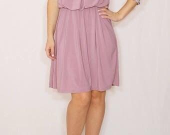 Bridesmaid dress Light purple dress Lilac Short dress Party dress Pastel dress