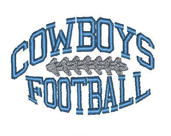 COWBOYS FOOTBALL - embroidery design 4 x 4 - baby burpcloth or bib design Dallas Cowboy Cowboys football