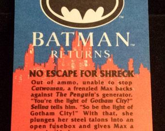 "Vintage 1992 Topps Batman Returns Trading Card, ""No Escape For Shreck"" #86"