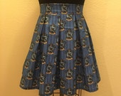 Harry Potter Ravenclaw House Printed Adult High Waisted Skater Skirt