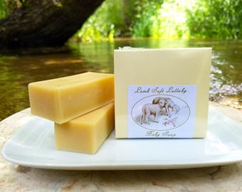 "Baby Soap - ""Lamb Soft Lullaby"" Unscented Soap, Animal Soap, Sheep Soap, Lamb Soap, Baby Shower Soap, Gender-neutral, Baby Gift"