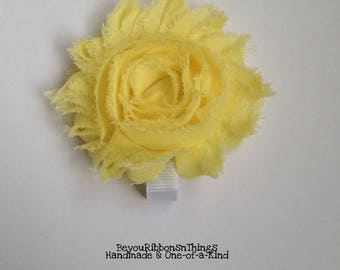 Yellow | Big Shabby Flower 2.5"