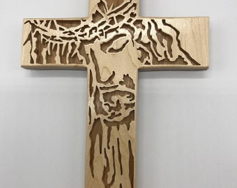 Crown of Thorns Cross - Cherry & Maple
