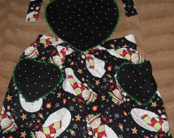 Snowman Youth Apron