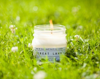 The Great Lawn - Fresh Cut Grass Soy Candle - New York Central Park Candle - Grass Scented Candle