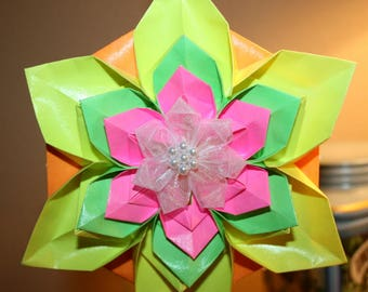 Origami Large Spring Flower Hanging Ornament