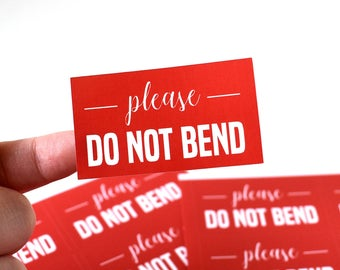 Please Do Not Bend, Shipping Labels, Mail Stickers, Seller Supplies, Rigid Envelope Label, Post Stickers, Packing Supplies, Packaging Decor