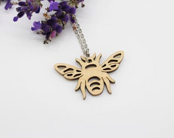 Bumble Bee Necklace | Laser Cut Nature & Insect Jewellery