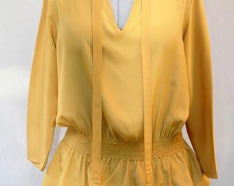 blouse femme imprim e floraux chocolat et violine en jersey de. Black Bedroom Furniture Sets. Home Design Ideas