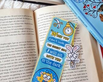 Alice in wonderland bookmark handmade