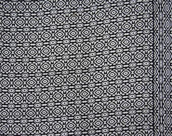 """White Printed Fabric, Black Fabric, Dress Material, Decorative Fabric, 46"""" Inch Rayon Fabric By The Yard ZBR392A"""