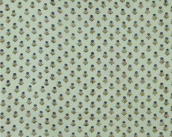 "Indian Dress Fabric, Floral Print, Olive Green Fabric, Cotton Fabric, Quilt Material, 44"" Inch Designer Fabric By The Yard ZBC9013C"