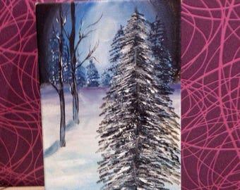 "original painting,acrylik painting,canvas,huge 18""*30"", winter, sunset"
