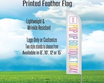 Printed Flag - Feather Flag - Consultant Flag for Pop Up
