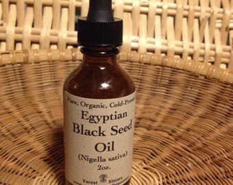 Egyptian Black Seed Oil (organic, cold-pressed, pure Nigella sativa, kalonji) 1oz. 2oz. & 4oz. immune, skin, hair