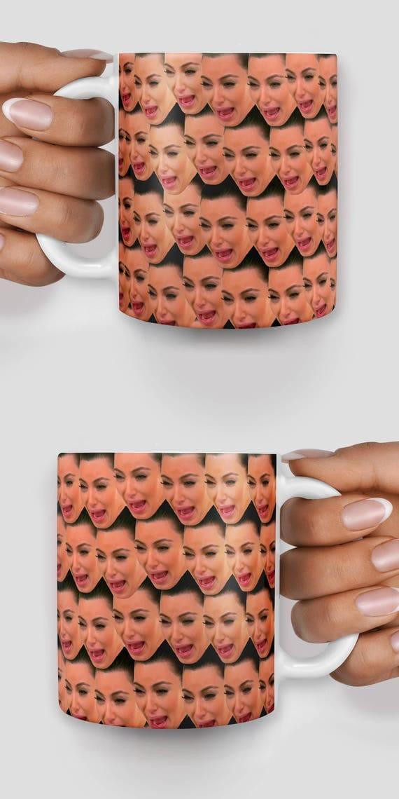 Kim Kardashian ugly crying face mug- Christmas mug - Funny mug - Rude mug - Mug cup 4P080
