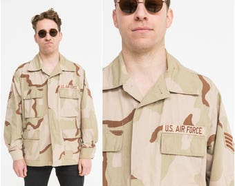 Desert Camo Field Shirt / US Army / Size L-XL