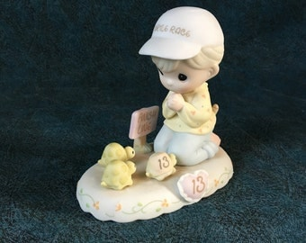 Vintage Precious Moments 13th Birthday Figurine, Growing in Grace 1997