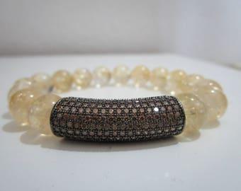 Citrine bracelet, bracelets, bracelet of natural stones, bracelet for women, gift, citrine, gift for woman, womens jewelry, stone jewelry