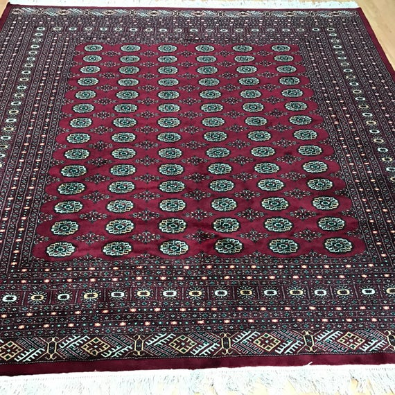 "8'2"" x 8'2"" Pakistani Bokhara Oriental Rug - Very Fine - Hand Made - 100% Wool"
