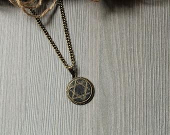 Jewish gifts Star of David necklace men Jewish star necklace Star of David pendant Jewish necklace magen David necklace meaningful necklace