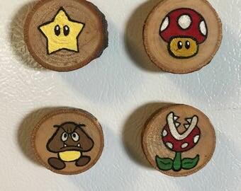 Super Mario Magnet Set, Gift Idea, Under 15, Stocking Stuffer, Gift for Gamer