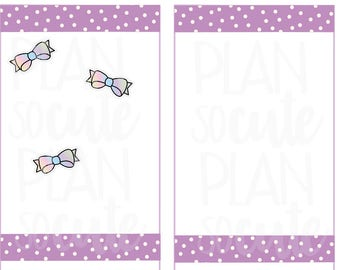 Mini bow Stickers, Planner Stickers -074
