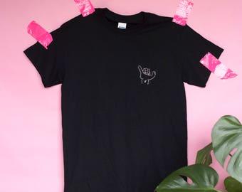Shaka/surfer Hand Embroidered T-shirt