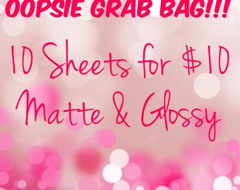 OOPSIE Grab Bags! 10 Sheets for 10 Dollars - Planner Stickers