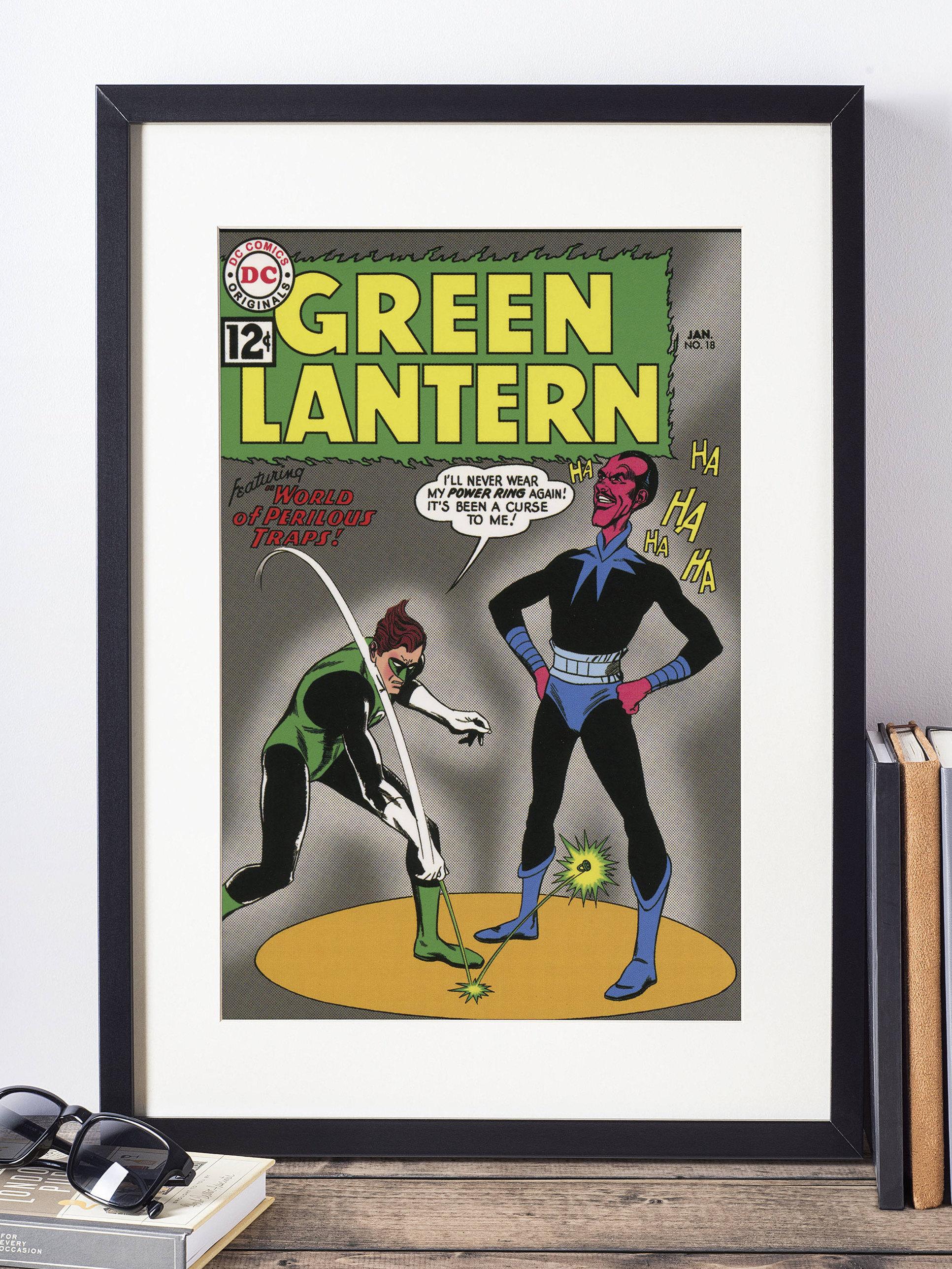 Green Lantern Poster / DC Comics Wall Art / Superhero Poster ...