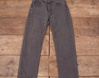 """Mens Vintage Levis 501 Red Tab 1980s Grey Jeans USA 31""""x 29"""" R7018"""