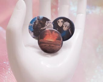 """Howl's Moving Castle 1"""" Buttons - Choose which one you want!"""