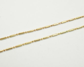"18K Gold Filled Chain 17.25"" Length 1mm Width Inch CG34"