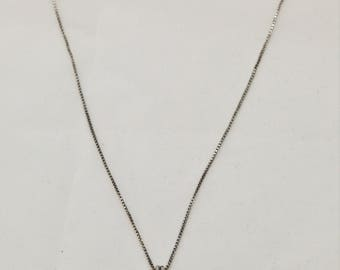 Vintage Artisan Handmade Baltic Amber Lapis Lazuli sterling silver pendant chain necklace