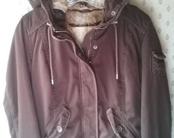 Vintage 90's Abercrombie & Fitch Hooded Bomber Jacket Size L
