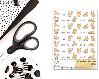 DONATION STICKERS - corgie - Planner Sticker