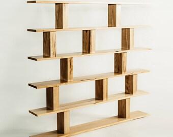 Custom Hardwood Bookshelf
