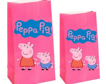 Peppa Pig Party Favor gift Bags~ Peppa pig birthday party Inspired Decorations & Decor