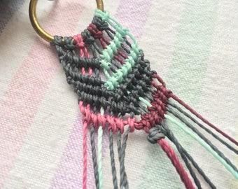 Macramé key chain / keyring / boho / weave / stocking filler
