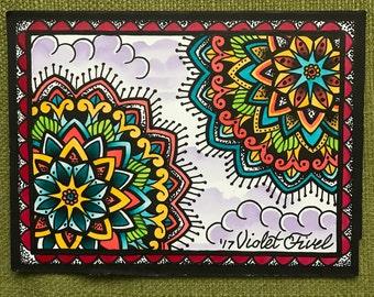 Mandala Watercolor Painting