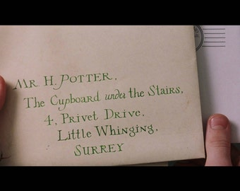 Harry Potter, Hogwarts Acceptance Letter, Movie Accurate