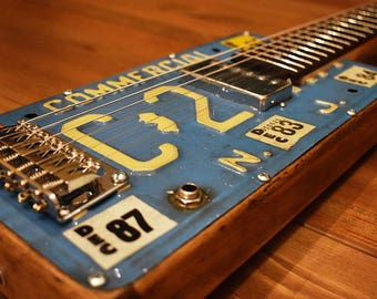 New Jersey License Plate Electric Guitar - SN2017-35