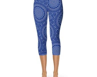 Capri Blue Leggings - New Fashion Leggings, Yoga Leggings, Stretch Pants for Women