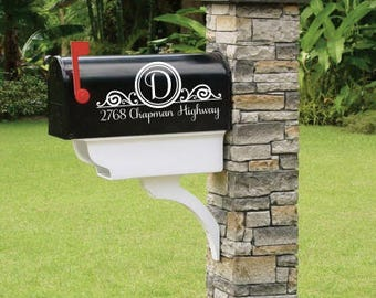 SALE! Custom Mailbox Address Vinyl Decal Stickers Mail Box Vinyl Numbers Mailbox Curb Appeal Mailbox Decals House Numbers Home Address