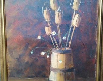 """Still life """"Ocheret, obereg"""" 70/40 cm. x/m i. Miller (Lviv)"""
