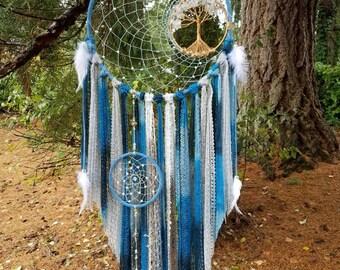 Crystal Quartz Tree of Life Dream Catcher/Wall Hanging/Room Decor