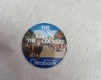 Vintage 1980s National Girobank Pin Badge