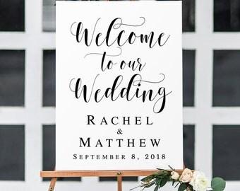 Welcome wedding sign printable Welcome wedding template Welcome sign Editable wedding sign Printable welcome to our wedding sign #vm31