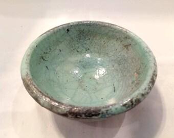 Raku pottery bowl